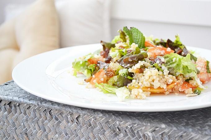 Ensalada de quinoa con menta