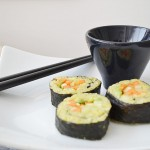 Sushi vegetal con arroz integral