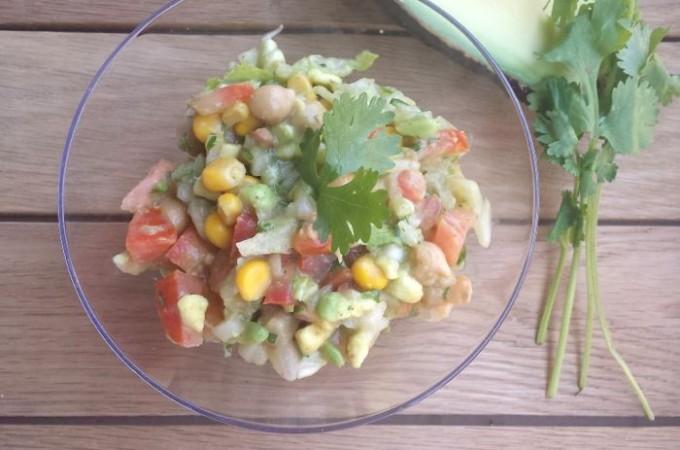 Ensalada de garbanzos con cilantro