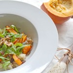Arroz integral con calabaza y nueces