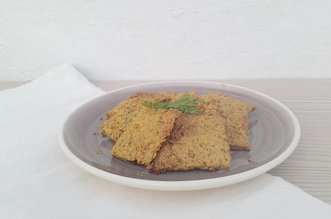 Crackers saladas de zanahoria y eneldo
