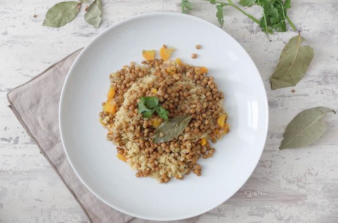 Quinoa con lentejas al curry