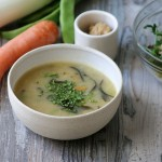 Sopa de miso vegetal con algas