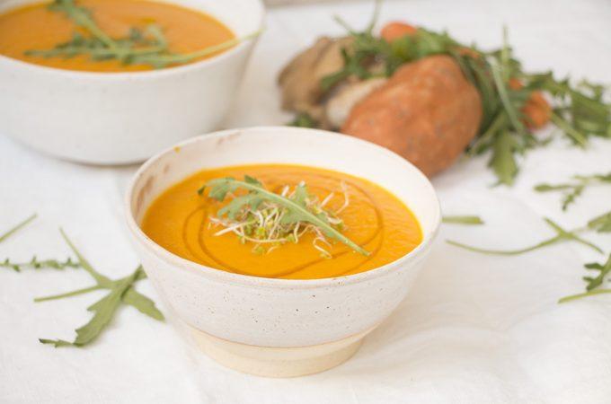 Crema antiinflamatoria de boniato y zanahoria
