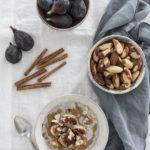 Pudding de chía con higos, canela y nueces de Brasil