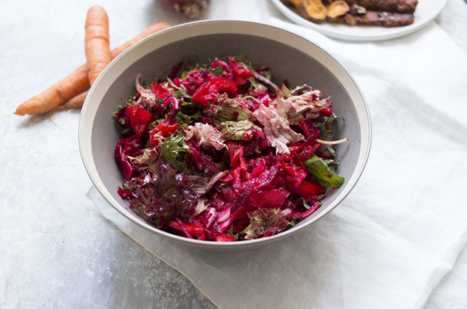 Ensalada 'greens and beets'