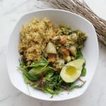 Bowl saludable con quinoa y brócoli