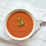 Crema fría de zanahoria y remolacha