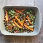 Ensalada de arroz salvaje y zanahorias al ajillo