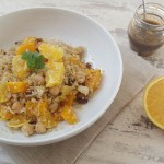 Tabulé de quinoa con calabaza y naranja