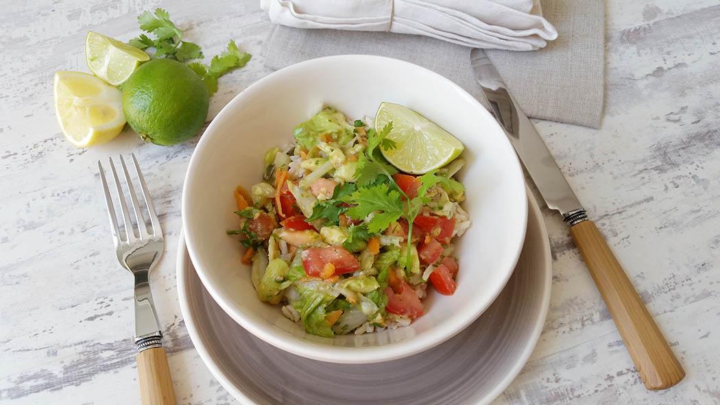 Ensalada de arroz a la mejicana