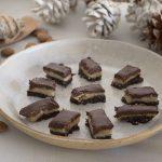 Turrón saludable de chocolate y almendras